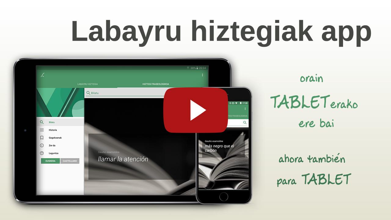 BIDEOA: Labayru Hiztegiak app