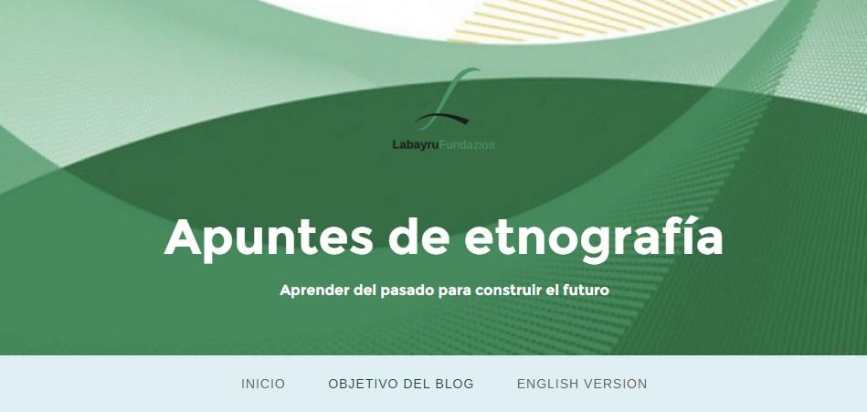 Blog barria etnografiako edukiak zabaldu eta konpartitzeko