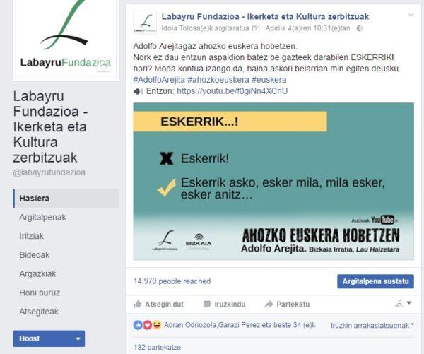 Facebooken arrakasta