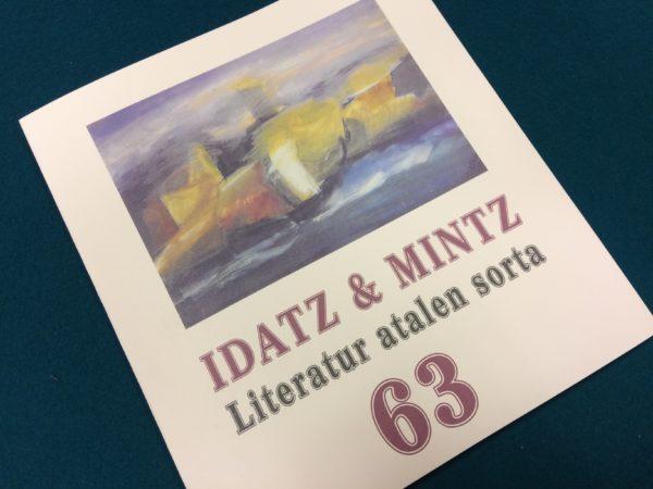 Idatz & Mintz literatur aldizkariaren zenbaki barria, 63.a